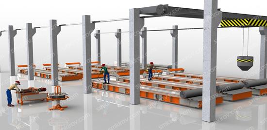 Технологическая линия для производства световых опор (стендового типа)