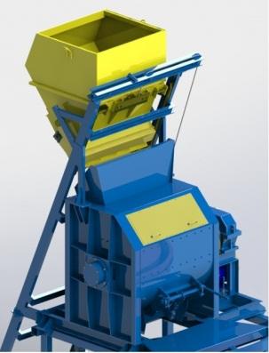 Одновальный бетоносмеситель БП-1Г со скипом