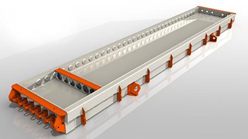 Автономный формовочный стенд с пропаркой для производства многопустотных плит ПК (АФПС ПК00.0)