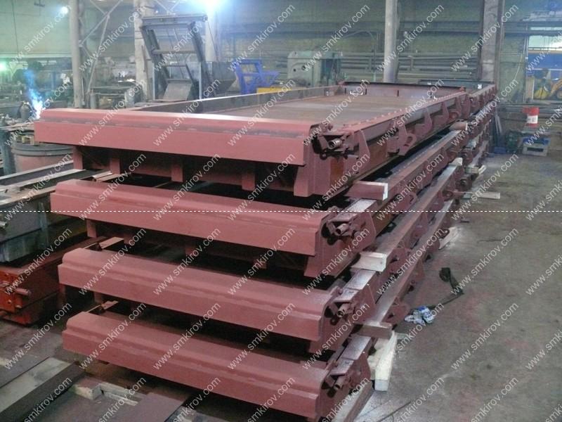 Металлоформы для напряженных дорожных плит по ГОСТ 21924-84