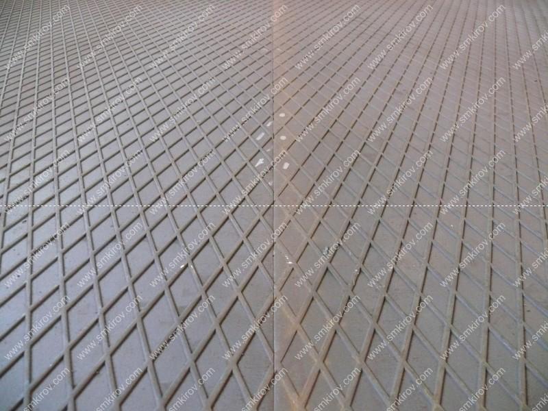 Стык рифления на формах для дорожных плит по ГОСТ 21924.1-84