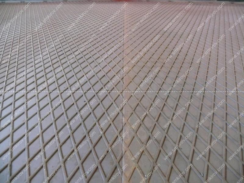 Стык рифления на формах для дорожных плит по ГОСТ 21924.2-84