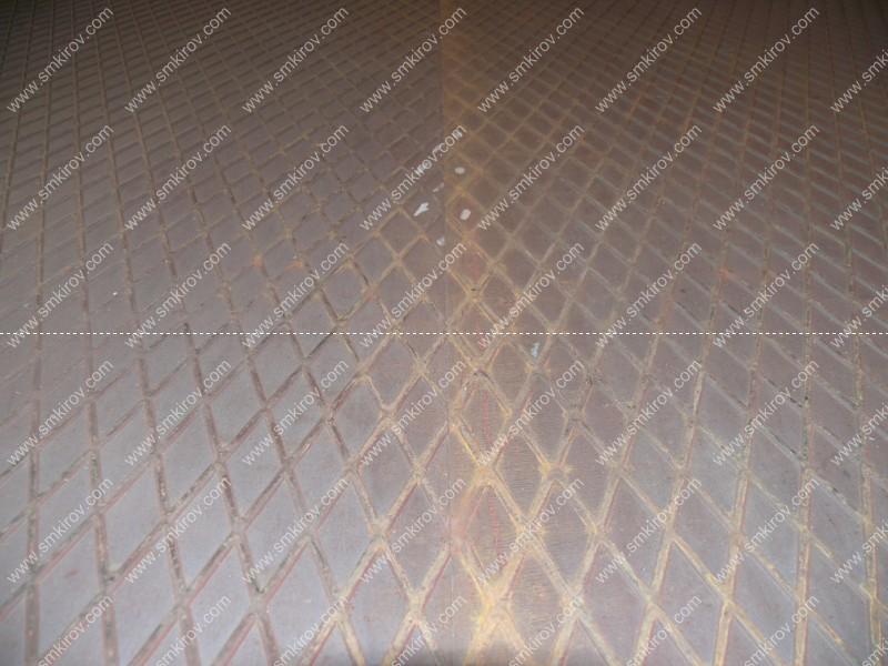 Стык стального рифленого листа на формах для дорожных плит по ГОСТ 21924-84