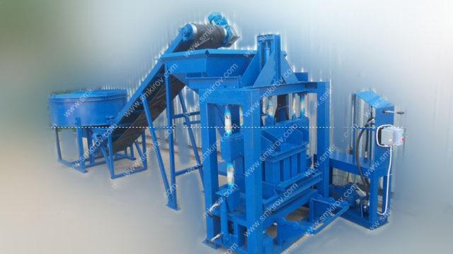 4 Оборудование для арболитовых блоков Скала-Арболит с бункером ленточным конвейером и бетономешалкой