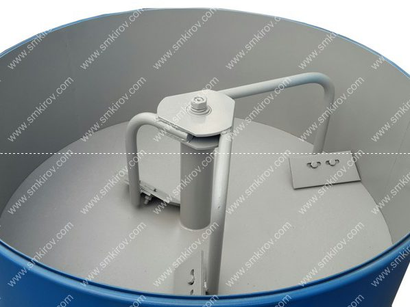 Перемешивающие устройство бетоносмесителя СБР250М на колёсах