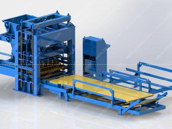 Вибропресс для блоков, брусчатки бордюра Скала-Профи Автомат 2