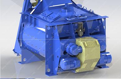 Двухвальный бетоносмеситель БП-2Г-2250 (2250/1500) без скипа