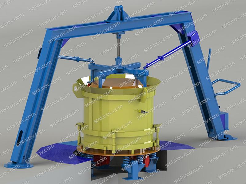 Оборудование для бетонных колец Вибропресс-КС-2000