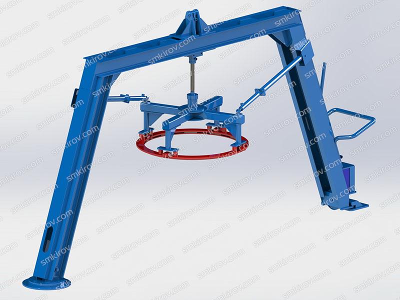 Оборудование для жби колец Вибропресс-КС Поворотная балка