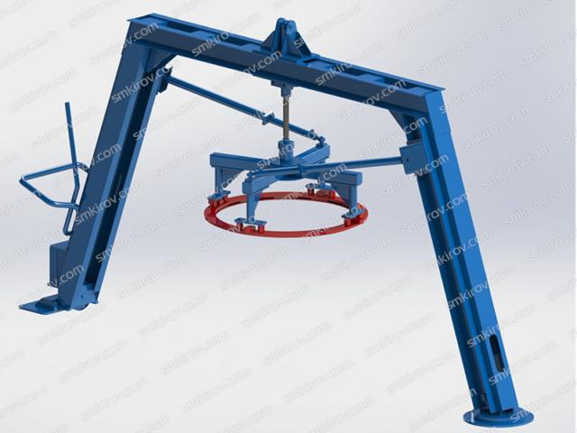 Оборудование для производства колец Вибропресс-КС Поворотная балка