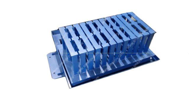 Матрица-пуансон блок рядовой 390х190х190 на 4 изделия