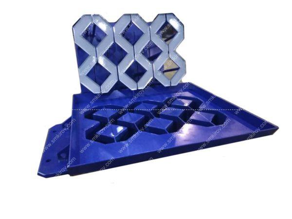 Матрица-пуансон для плитки решётка