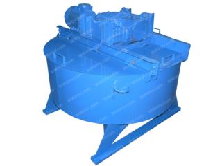 Бетоносмеситель принудительного действия СБ-80-05 на 375 литров, с броней, без скипа