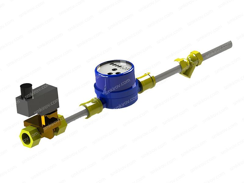 Дозатор химической добавки проточный SMX ДХДП