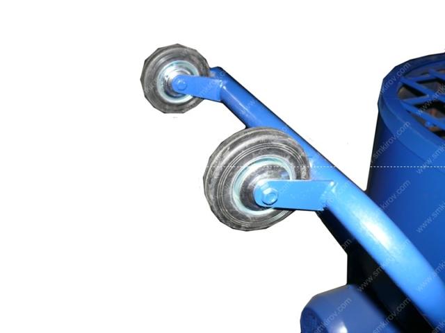 Бетономешалка СБ-мини 120 на 220 Вольт телескопичесткая ручка с колёсами
