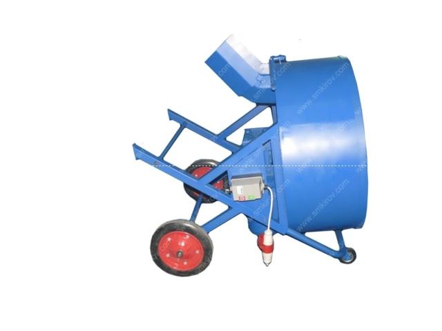 Бетоносмеситель СБ-мини 180 литров на 380 Вольт положение для траспортировки