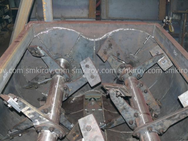 Двухвальный бетоносмеситель БП-2Г-1000С (со скипом)