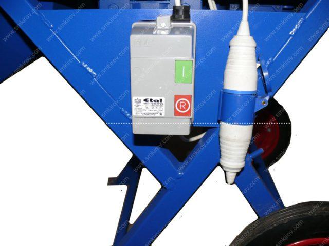Бетоносмеситель СБ-мини 120 на 220В блок управления